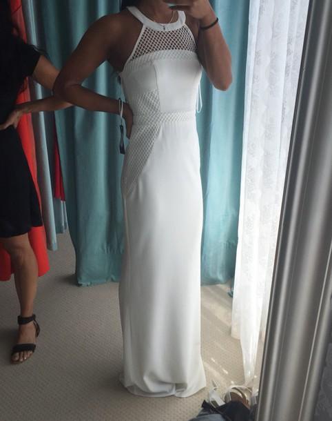 dress white barino formal dress