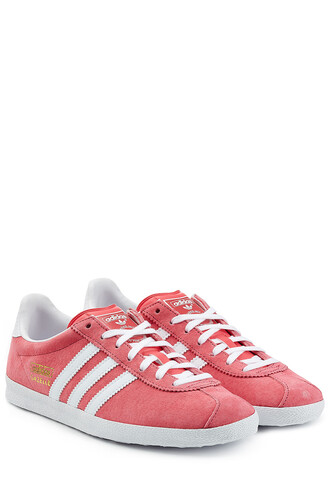 sneakers suede pink shoes