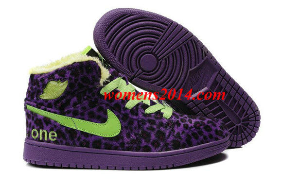 fur winter shoes air jordan i men purple nike jordan 1 leopard
