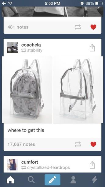 bag cute tumblr transparent  bag tumblr fashion