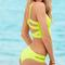 Green yellow strappy back bikini set