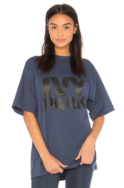 IVY PARK logo tee oversized blue top