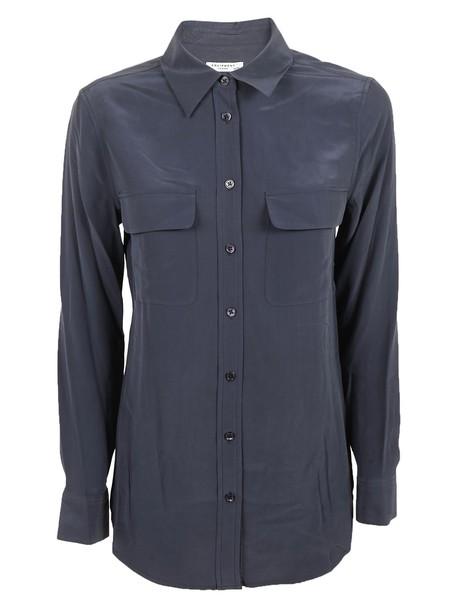 Equipment shirt blue top