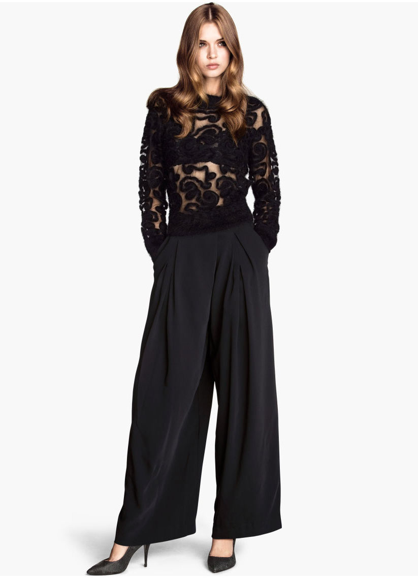 Black Side Zipper Pockets Loose Pant - Sheinside.com