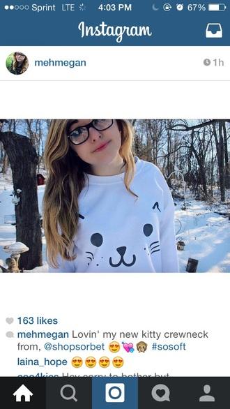 top style kitty kawaii japan grunge sweater cats harajuku
