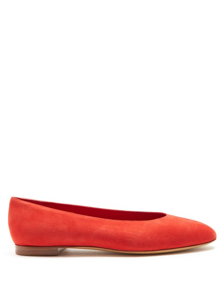 pumps suede red shoes