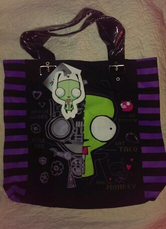 bag purple invader zim robot