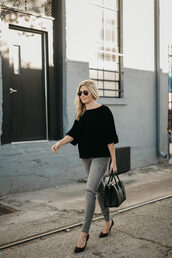 onesmallblonde,blogger,shorts,top,jacket,dress,shoes,fall outfits,handbag,pumps,grey pants