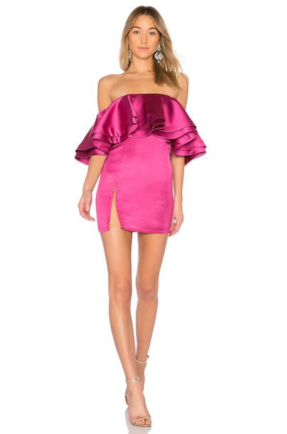 Michael Costello dress mini dress mini pink