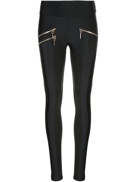 Thomas Wylde leggings zip women spandex black pants