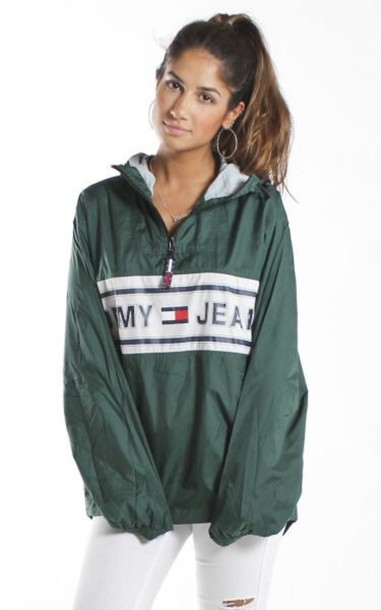 Jacket: tommy hilfiger tommy girl windbreaker - Wheretoget