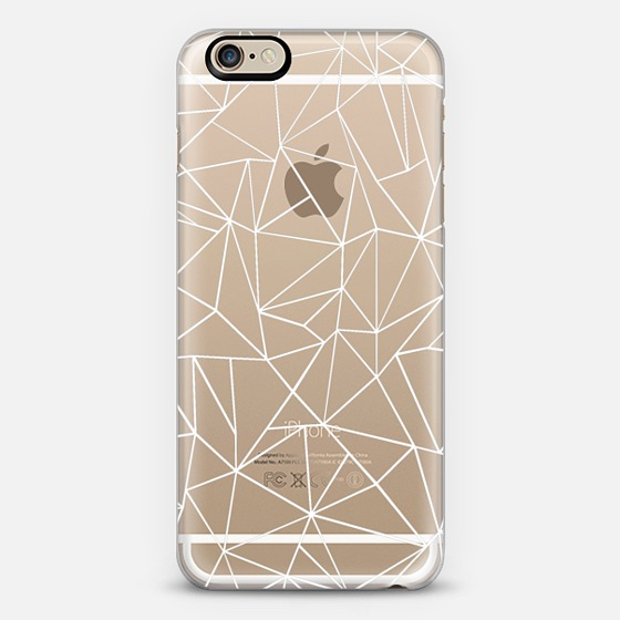 Abstraction outline white transparent iphone 6 case by project m
