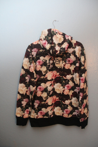 sweater supreme floral flowers hoodie urban cute fashion style