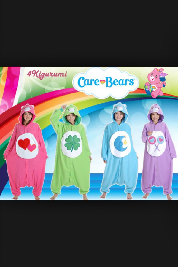 pajamas carebear onesie lucky