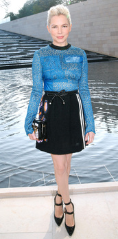 top,skirt,michelle williams,fashion week 2014