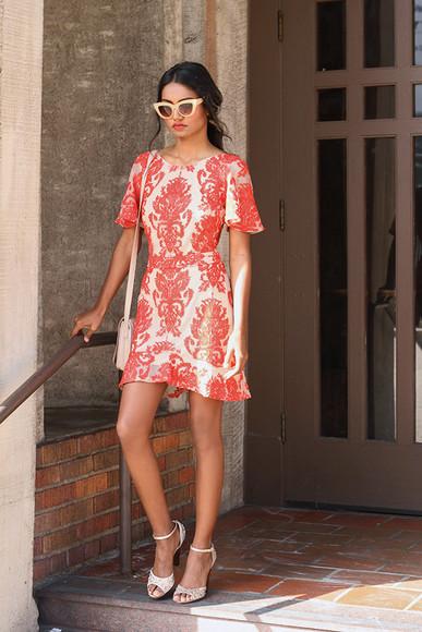 tuolomee bag blogger sunglasses ruffle jacquard