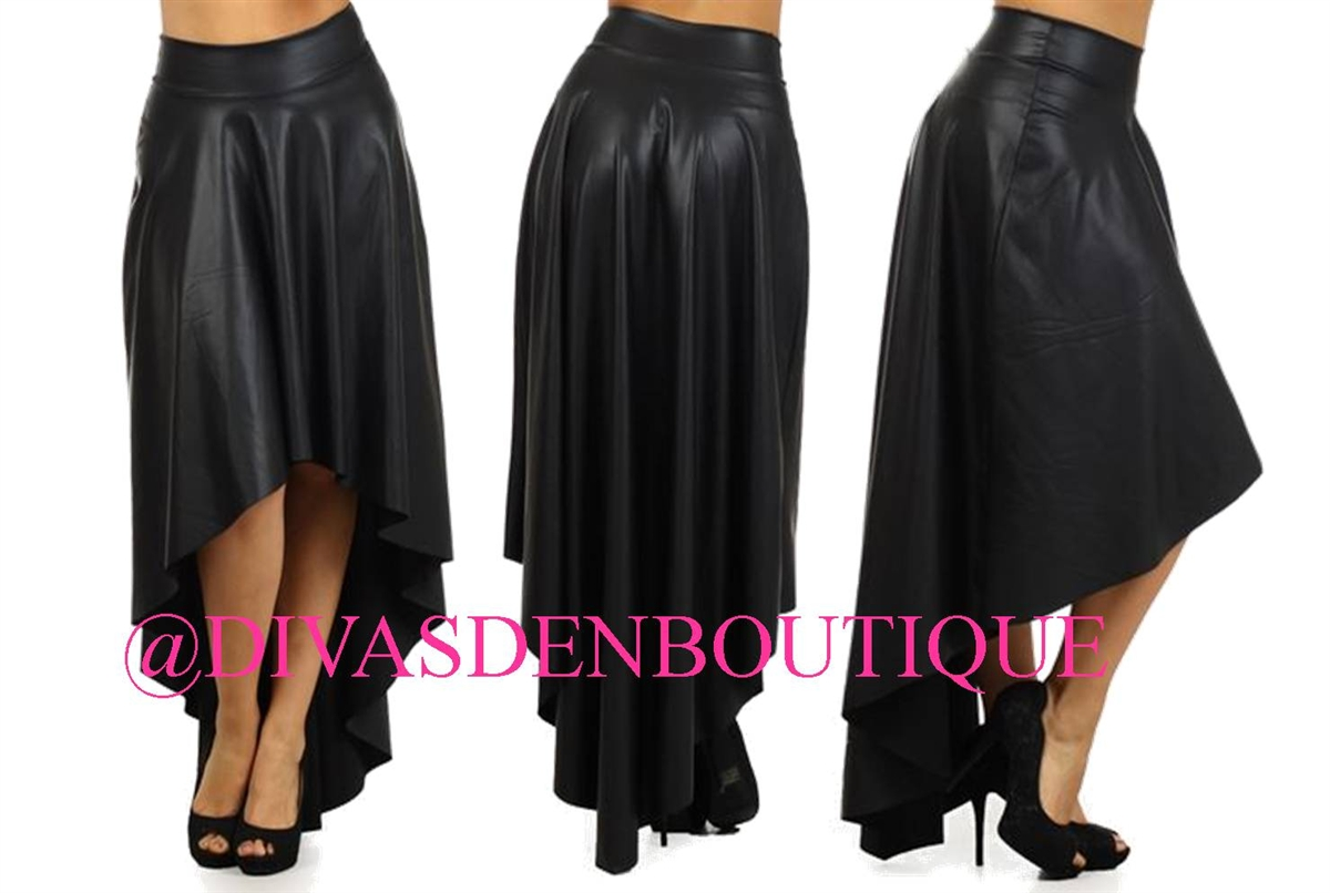 Plus size faux high low skirt