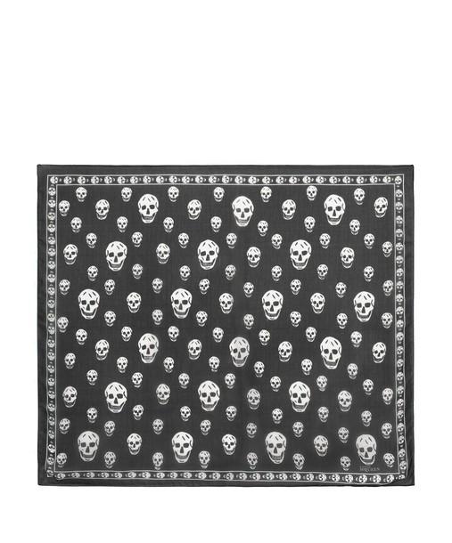 Alexander Mcqueen skull chiffon scarf silk
