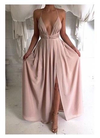 dress nude nude dress long dress long prom dress halter dress