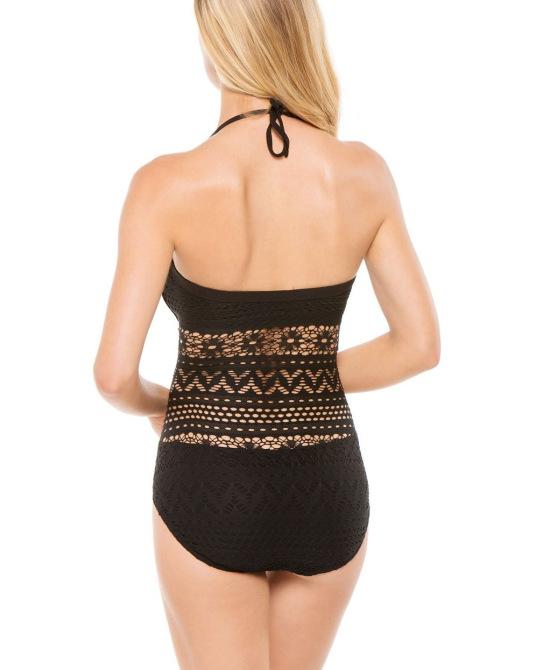 Crochet triángulo traje de baño una piezas victoria túnica bonito y elegante traje de baño set vs negro bare back en vestidos de moda y complementos mujer en aliexpress.com