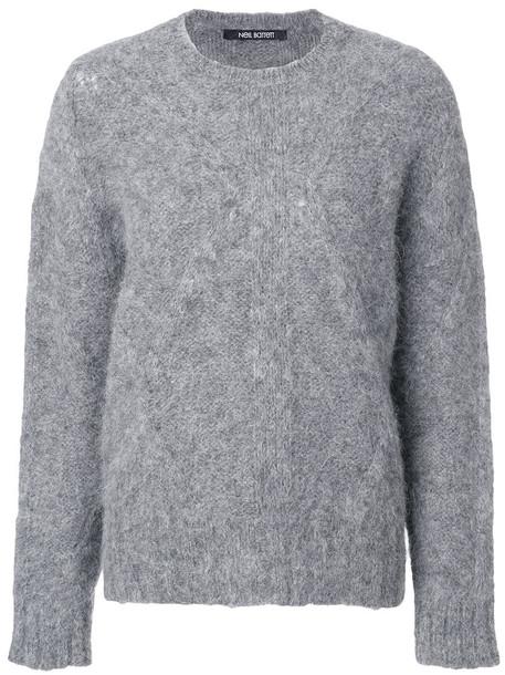 neil barrett jumper women fluffy grey sweater
