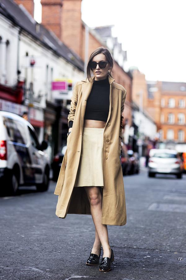 anouska proetta brandon blogger top skirt shoes sunglasses