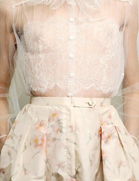 top see through style fashion pretty tumblr hipster indie shirt dress Valentino haute couture