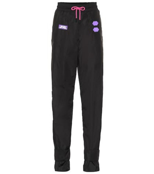 Off-White Exclusive to Mytheresa – appliquéd track pants in black