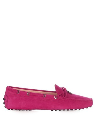 loafers suede pink shoes