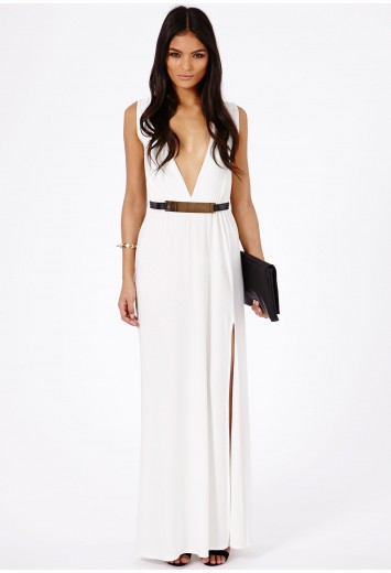 Rebella belted maxi dress