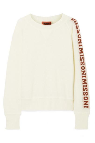 Missoni - Intarsia Knitted Sweater - Cream