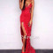 Custom made red lace mermaid long prom dress, red evening dress - 24prom