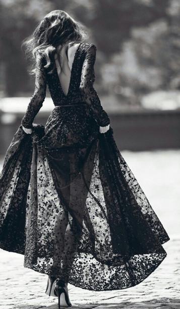 dress black prom prom dress black dress black heels lace dress lace