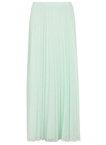 Aqua Mesh Pleat Maxi Skirt - View All- Dorothy Perkins