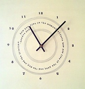 home accessory,wall clock,quote on it,clock