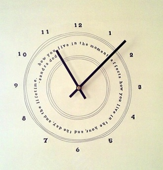 home accessory wall clock quote on it clock