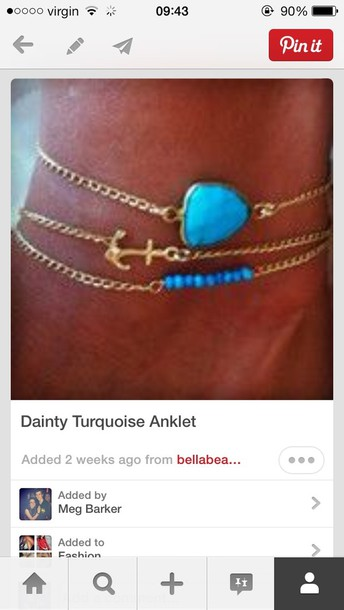 jewels anklet gold jewelry gold anklet turquoise jewelry jewelry