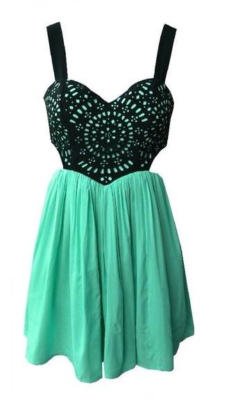 dress mint sleeveless lace dress