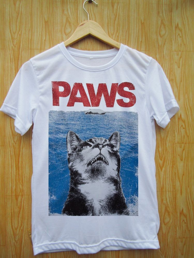 Crazy Grumpy Cat Meow Paws Jaws Parody Funny Pop Art Tumblr Swag Hipster T Shirt