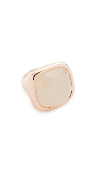 stone ring rose gold rose ring gold white jewels