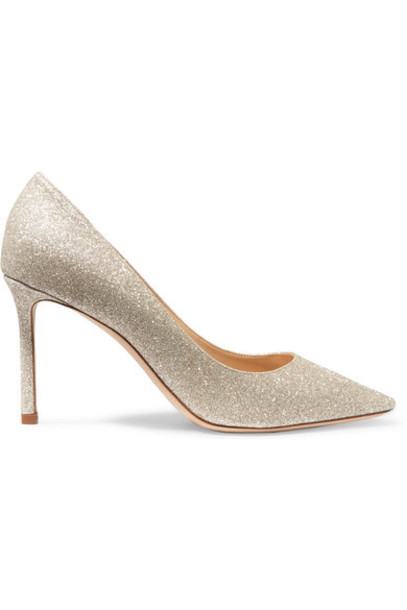 Jimmy Choo pumps silver leather shoes