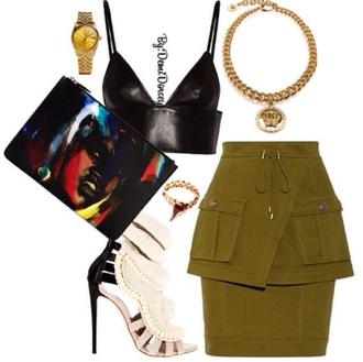shoes bag skirt