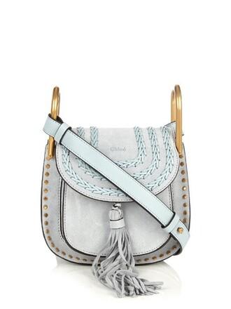 cross mini bag suede light blue light blue