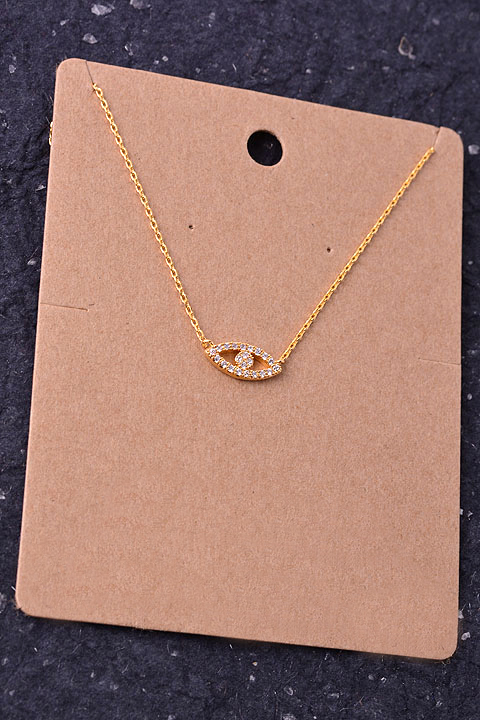 Dainty Crystal Evil Eye Pendant Necklace