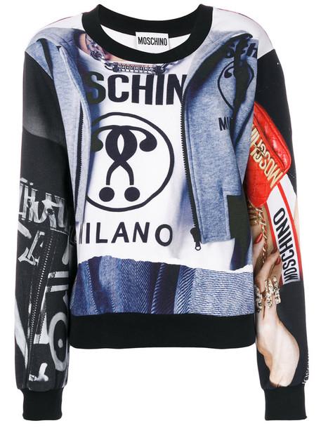 Moschino - logo print sweatshirt - women - Cotton - 48, Cotton