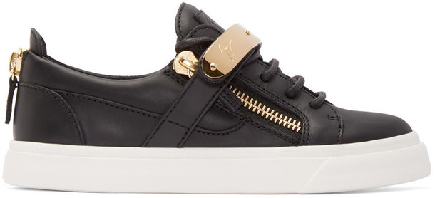 Giuseppe Zanotti london sneakers leather black black leather shoes