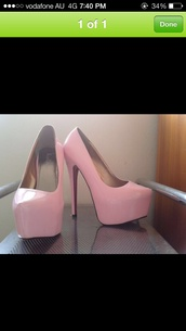 shoes,baby pink high heels,marco gianni