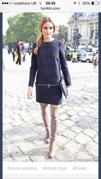 dress flannel dress zipper