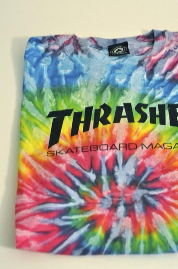 t shirt tie dye thrasher wheretoget