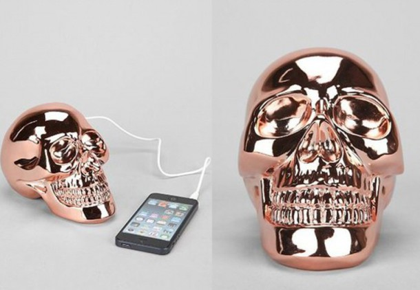 home accessory skull metallic technology hipster metallic home decor